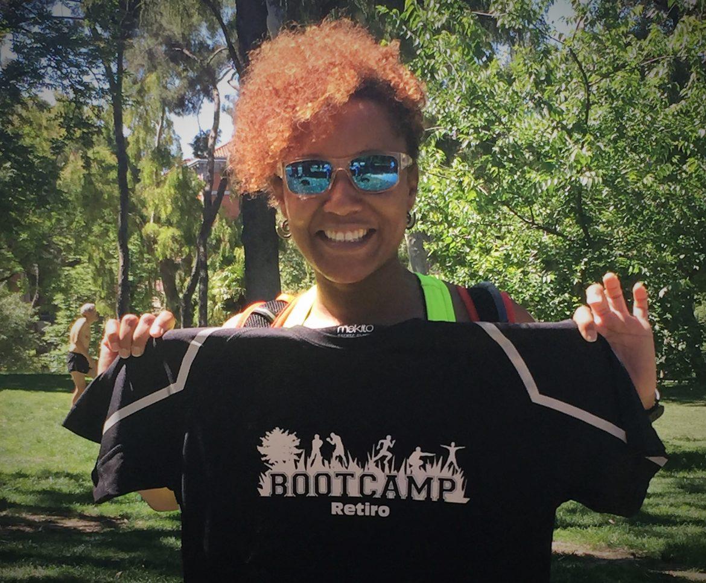 Tisha acude a Bootcamp para complementar su trabajo en el gimnasio